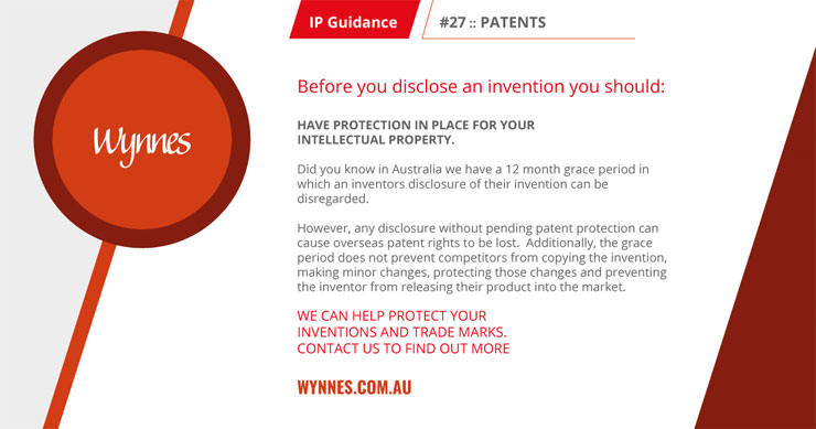 IP guidance before you disclose