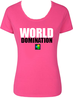 world domination pink t 235